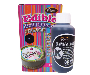 Edible Refill Color <br>Black <br> 18 Bottle/Carton