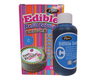 Edible Refill Color <br>Cyan <br> 18 Bottle/Carton