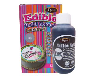 Edible Refill Color <br>Dye Black <br> 18 Bottle/Carton