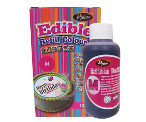 Edible Refill Color<br> Magenta <br> 18 Bottle/Carton