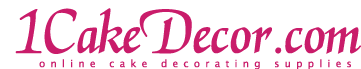 1CakeDecor.com logo. If you click it, you'll go home